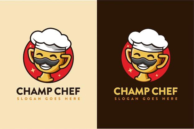 Champion chef cartoon logo