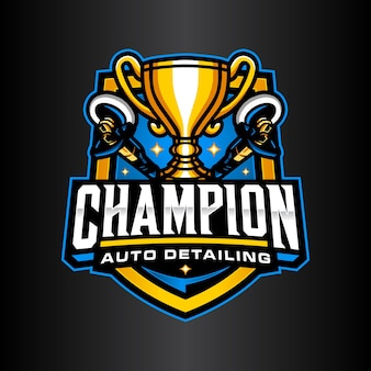 Шаблон логотипа чемпиона