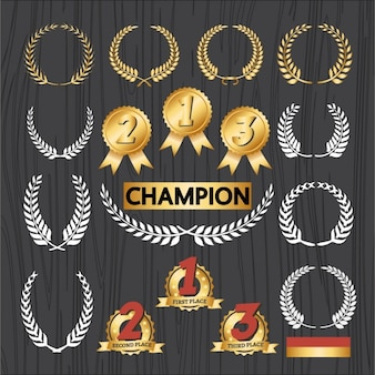Champion emblems set