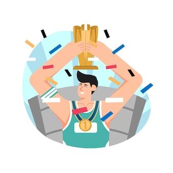 Champion flat illustration
