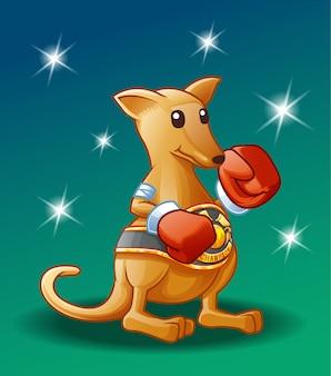 Чемпионский персонаж кенгуру.