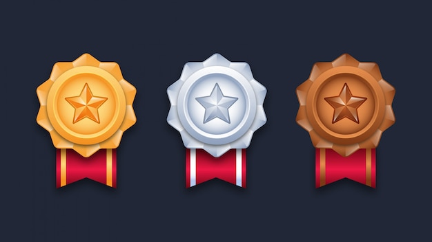Champion medals illustration