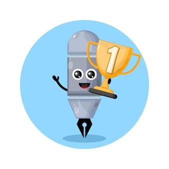 Трофей чемпиона ручка дизайн персонаж милый