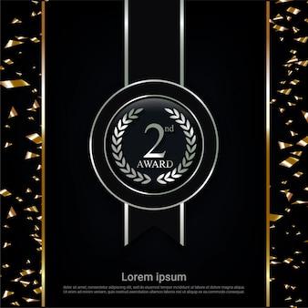 Champion silver medal award