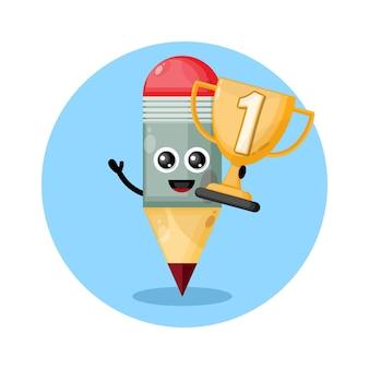 チャンピオンズトロフィー鉛筆デザインキャラクターかわいい