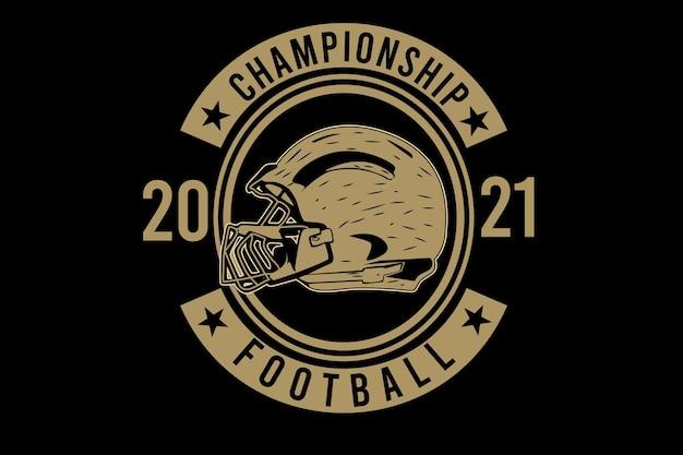 Championship football typography design