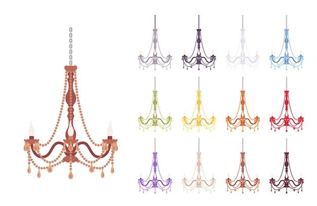 Chandelier lamp elegant set