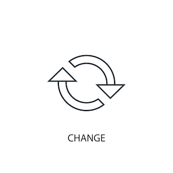 Change concept line icon. simple element illustration. change  concept outline symbol design. can be used for web and mobile ui/ux