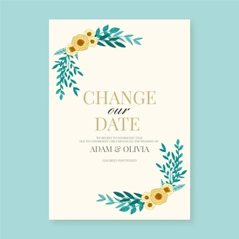 Change the date frame of flowers
