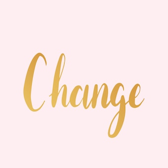 Change text typography style vector
