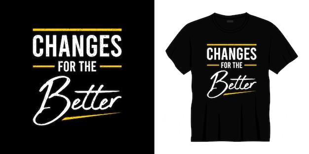 Изменения для лучшего дизайна футболки типографии