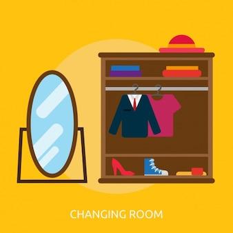 Changing room background design
