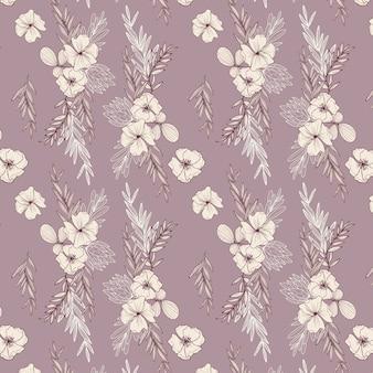 Chantalle hand drawn floral pattern