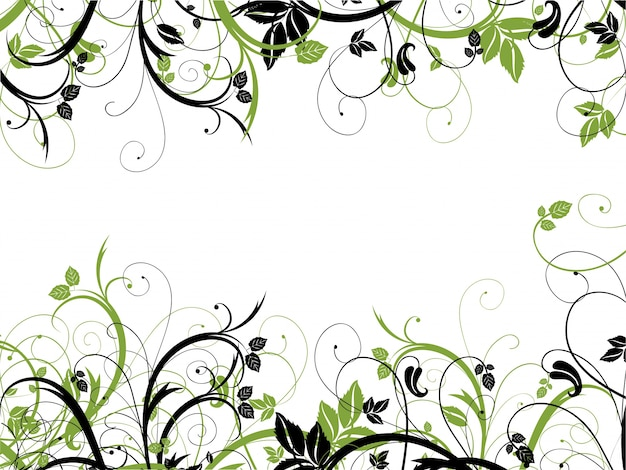 Chaotic abstract floral design
