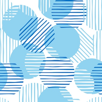 Chaotic seamless pattern illustration.