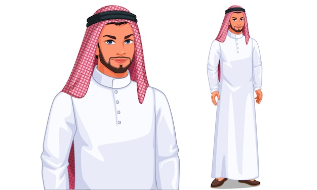 Character of arabic man