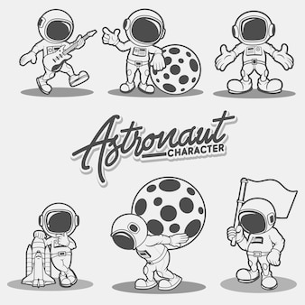 キャラクター宇宙飛行士