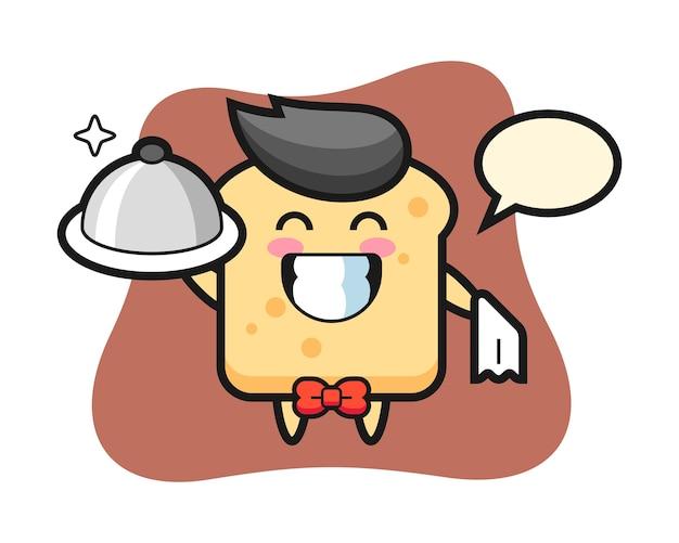 Хлеб персонажа в роли официантов