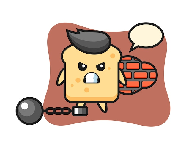 Character bread as a prisoner