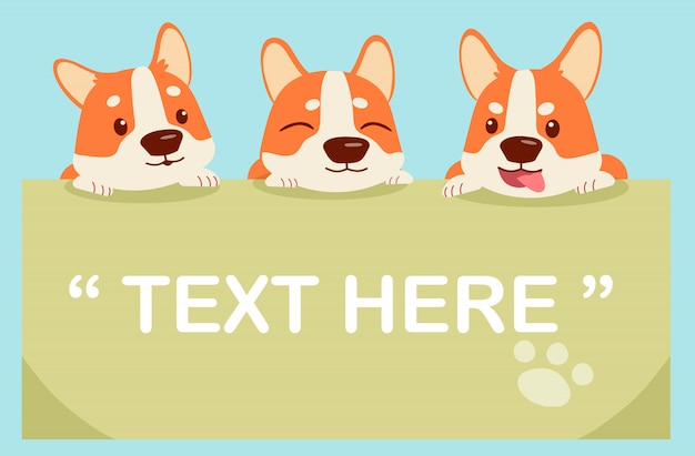 Character cartoon corgi pack