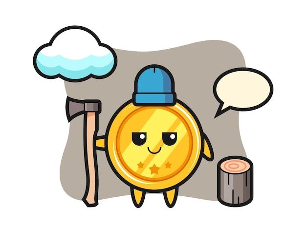 나무꾼으로 메달의 캐릭터 만화