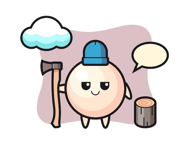 Персонаж из мультфильма жемчужины как дровосек