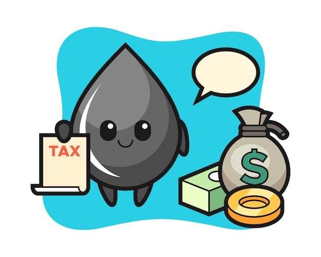 Character cartoon of oil drop as a accountant