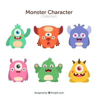6モンスターのキャラクターコレクション