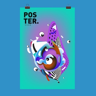 Character cover and poster design template
