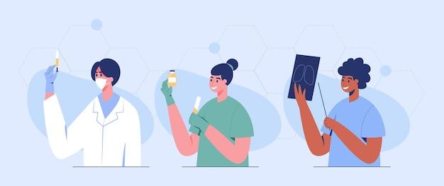 Дизайн персонажей медицинского персонала в условиях эпидемии covid-19.