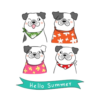 Character dog in summer