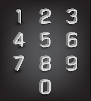 Character english abc 3d number