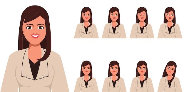 アニメのキャラクター 口と顔の美女