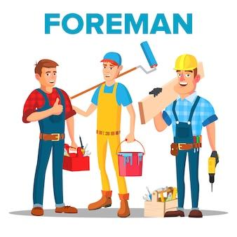 Character foreman staff renovation team