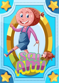 サラミという言葉のキャラクターゲームカード