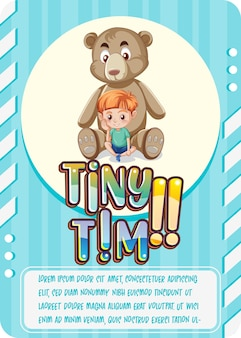 Tiny tim이라는 단어가 있는 캐릭터 게임 카드