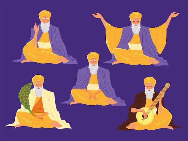 Гуру персонажей нанак джаянти