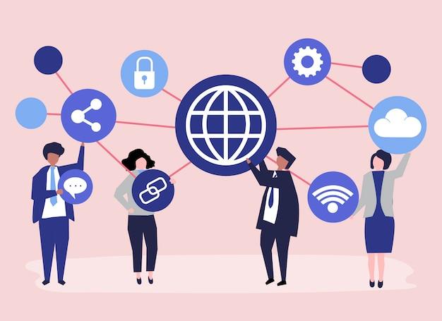 Иллюстрация символов деловых людей
