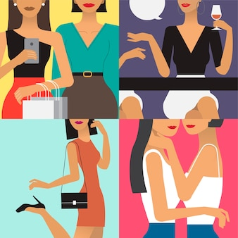 Character illustration of woman lifestyle