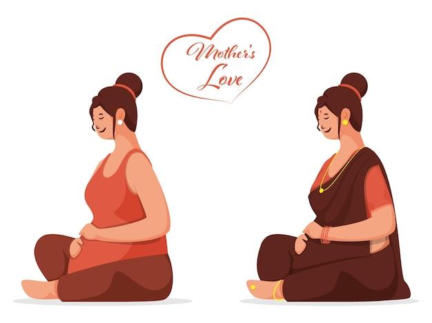妊婦になるママのキャラクターイラスト