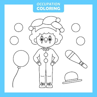 Character of job occupation coloring page