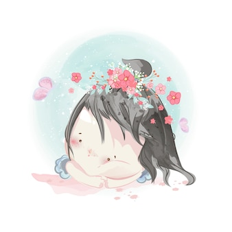 Character in lovely girl style.