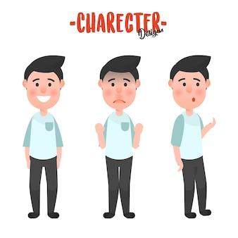 Character man action