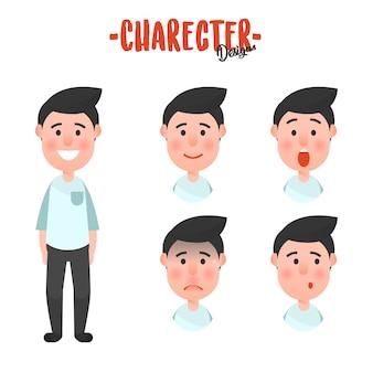 Character man face