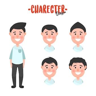 Character man hair