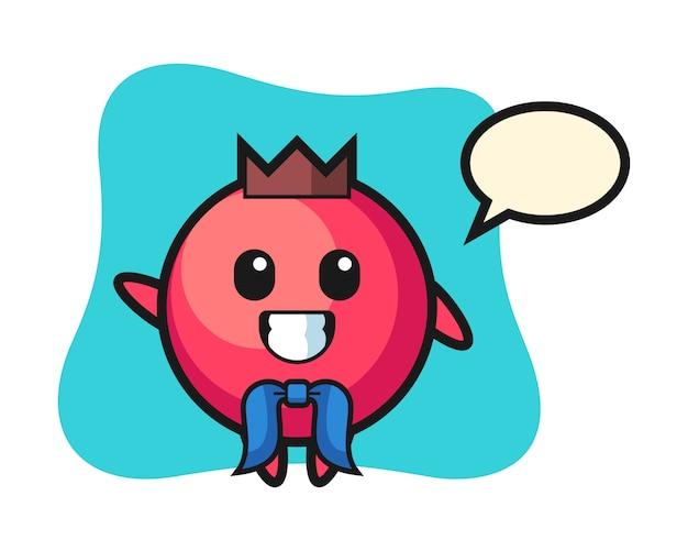 Character mascot of cranberry as a sailor man, cute style , sticker, logo element