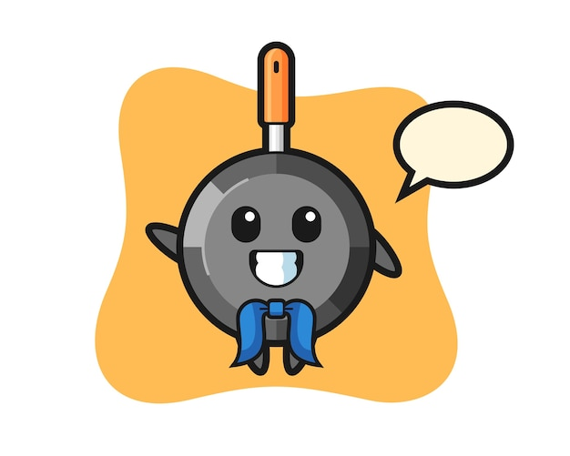 Character mascot of frying pan as a sailor man