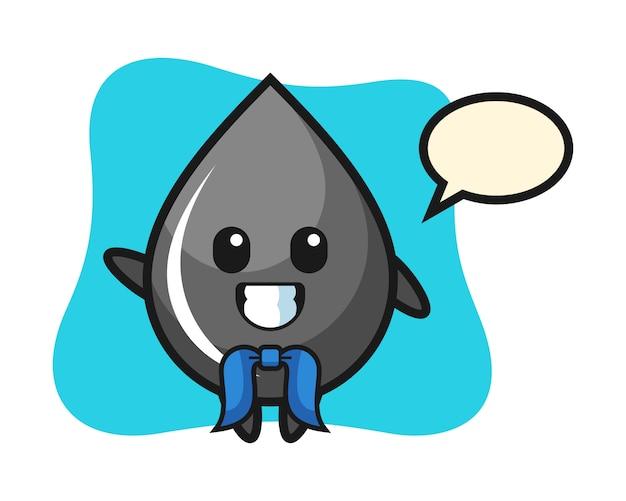 Character mascot of oil drop as a sailor man