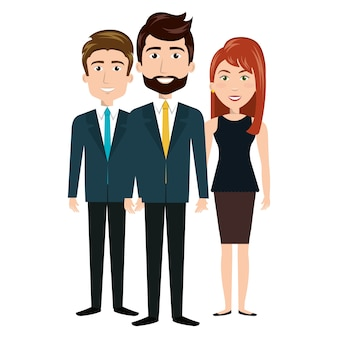 Character men and woman team human resources