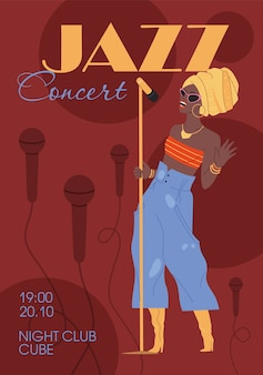 Character music band,jazz,rock,blues stylish banner poster web online concept.